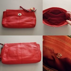Coach Tangerine Handbag and wallet